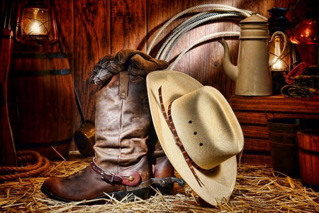Cowboy Boots, Hats, and Gloves
